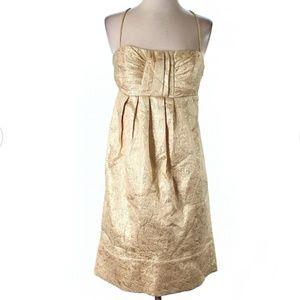[BCBG Paris] Empire Waist Gold Cocktail Dress